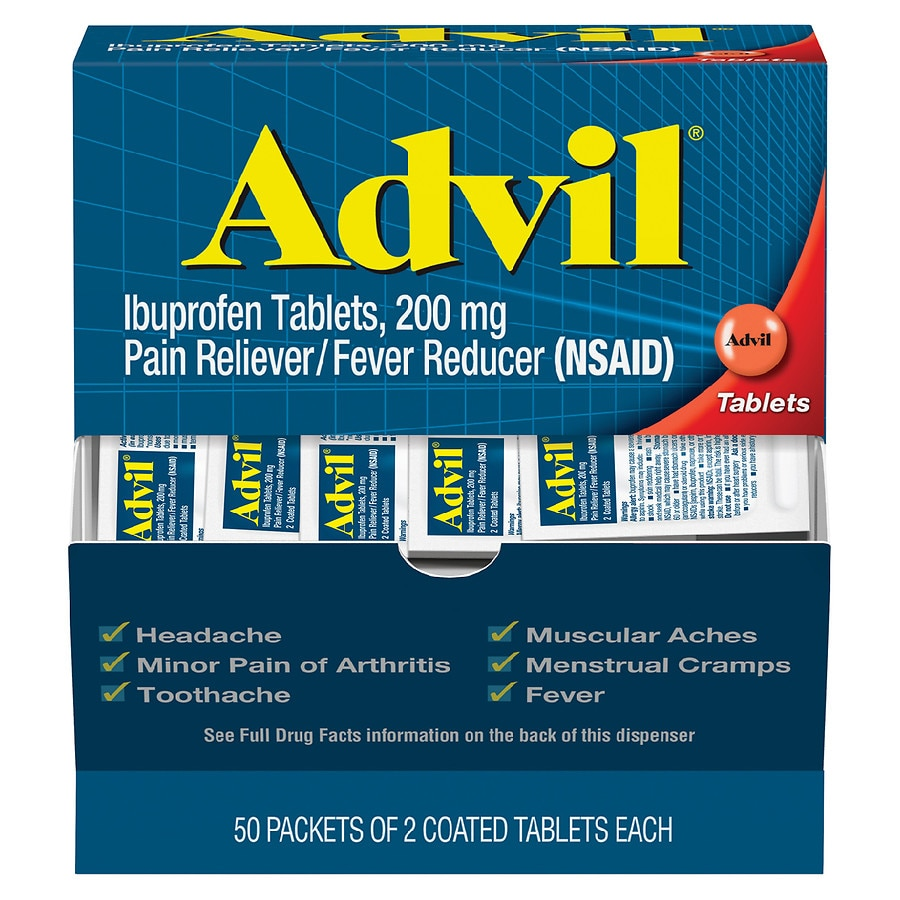 Advil Ibuprofen Pain Reliever Amp Fever Reducer Tablets