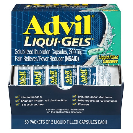 Advil Ibuprofen 200mg Liqui-Gels 50 pk
