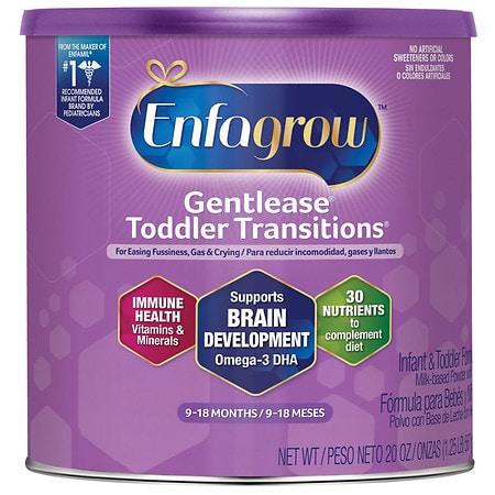 Enfagrow Gentlease Toddler Transitions Powder Stage 2 - 21 oz.