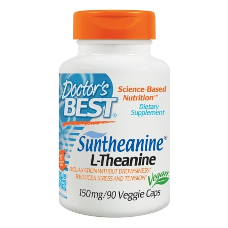 Doctor's Best Suntheanine L-Theanine, 150mg, Veggie Caps