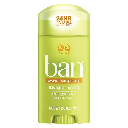 Ban Invisible Solid, Antiperspirant & Deodorant Sweet Simplicity