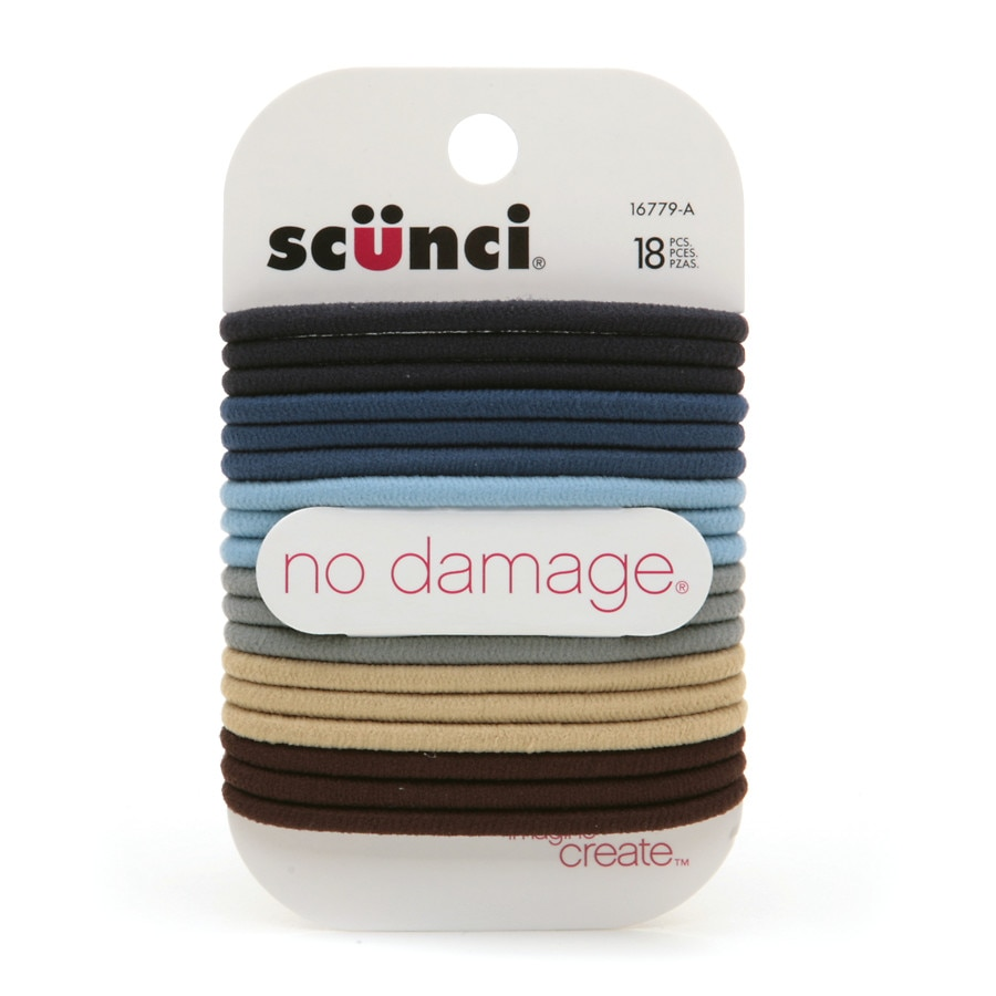 Scunci Effortless Beauty No Damage Hair Elastics Blues18.0 pcs 0082ae8ea7b