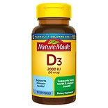 Nature Made Vitamin D 2000 IU Dietary Supplement Liquid Softgels