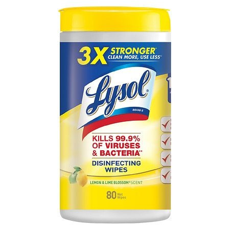 Lysol 4 in 1 Disinfecting Wipes Lemon & Lime Blossom - 80.0 ea