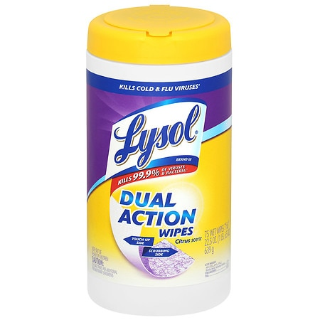 Image of Lysol Dual Action Disinfecting Wipes Citrus - 75 ea