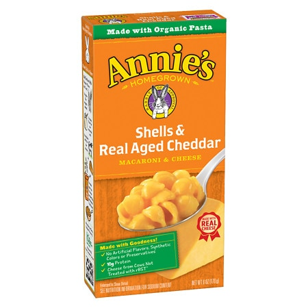 Annie's Totally Natural Shells & Aged Cheddar - 6 oz.
