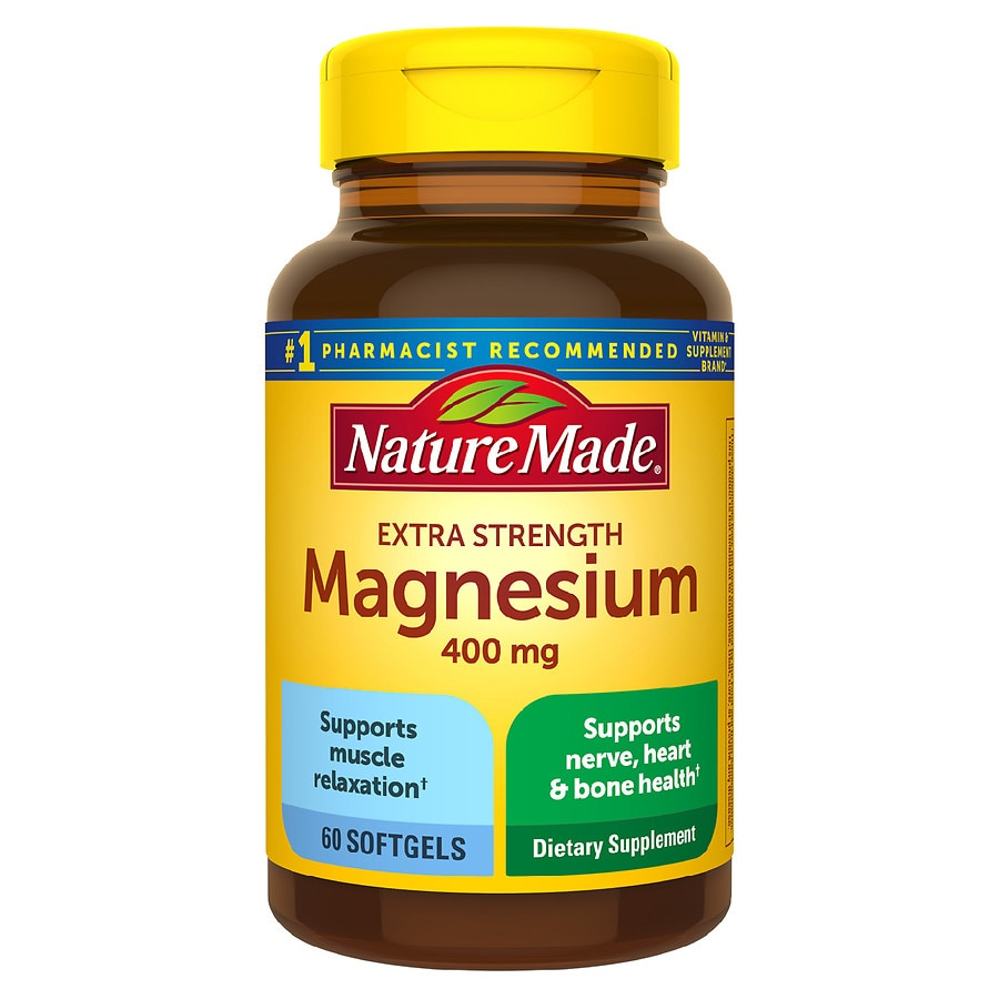 nature made magnesium 400 mg dietary supplement liquid softgels