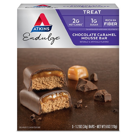Image of Atkins Endulge Treats Chocolate Caramel Mousse - 1.2 oz x 5 pack