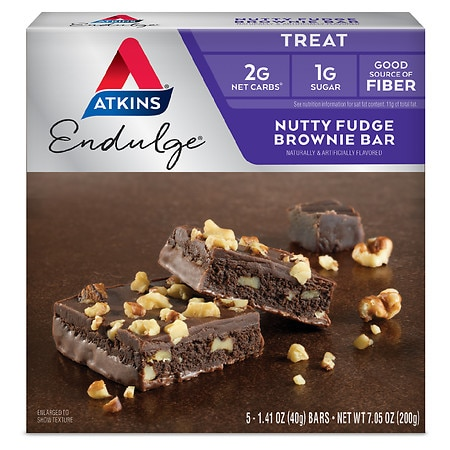 Image of Atkins Endulge Treats Nutty Fudge Brownie - 1.4 oz x 5 pack