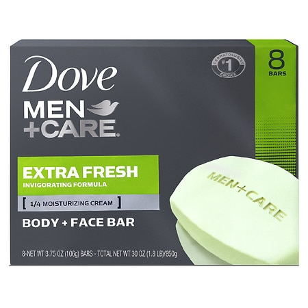 Dove Men+Care Body & Face Bar Extra Fresh, 8 pk