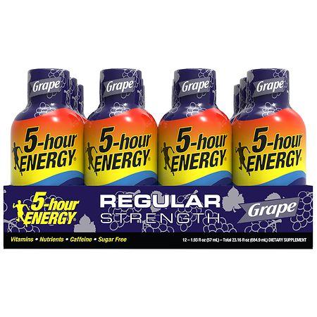 5-Hour Energy Energy Shot Grape - 1.93 oz. x 12 pack