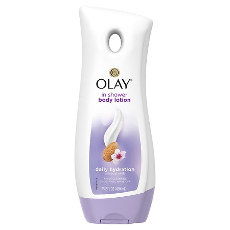 Olay In-Shower Body Lotion Daily Hydration with Almond Milk - 15.2 fl oz