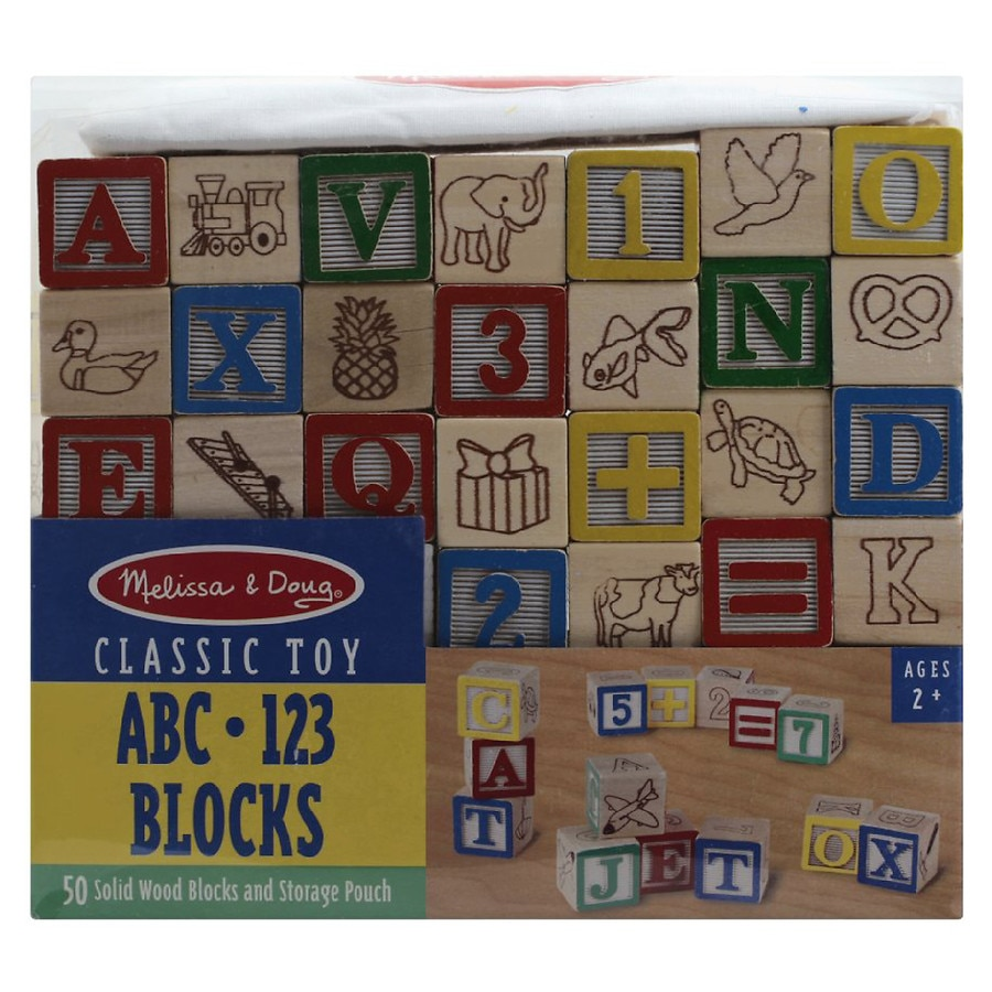 Melissa Doug Wooden Abc 123 Blocks Uc