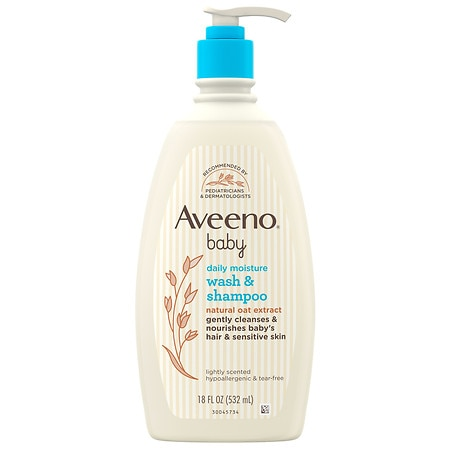 Aveeno Baby Gentle Wash Shampoo With Natural Oat Extract - 18 fl oz