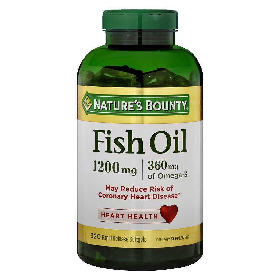Nature 39 s bounty fish oil 1200 mg dietary supplement for Nature s bounty fish oil 1200 mg