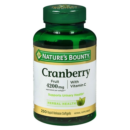 Nature's Bounty Cranberry 4200 mg Plus Vitamin C Dietary Supplement Softgels - 250 ea