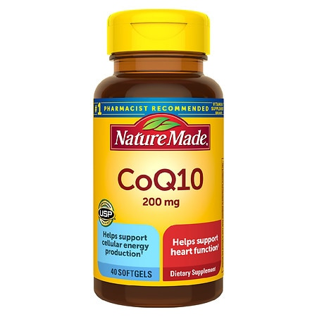 Nature Made CoQ10 200 mg Dietary Supplement Liquid Softgels - 40 ea