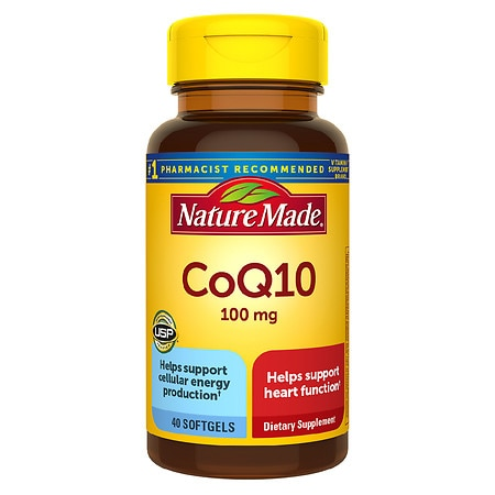 Nature Made CoQ10 100 mg Dietary Supplement Liquid Softgels - 40 ea