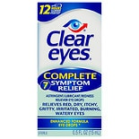 Clear eyes Complete 7 Symptom Relief Astringent/ Lubricant/ Redness Reliever Eye Drops