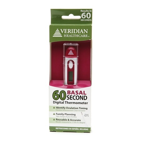 Veridian Healthcare 60 Second Digital Basal Thermometer