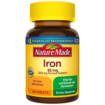 Nature Made Iron 65 mg Dietary Supplement Tablets