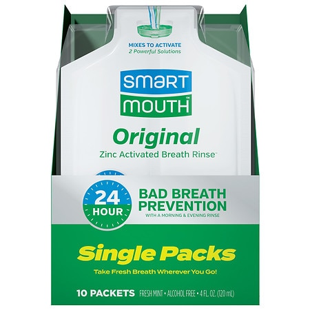 SmartMouth On the Go Mouthwash 10 Pack Clean Mint