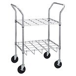 Drive Medical Oxygen Cylinder Cart 20 Slots Chrome