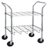 Drive Medical Oxygen Cylinder Cart 12 Slots Chrome