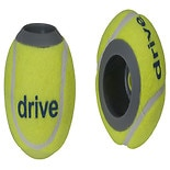 Drive Medical Walker Rear Tennis Ball Glides with Additional Glide Pads Yellow