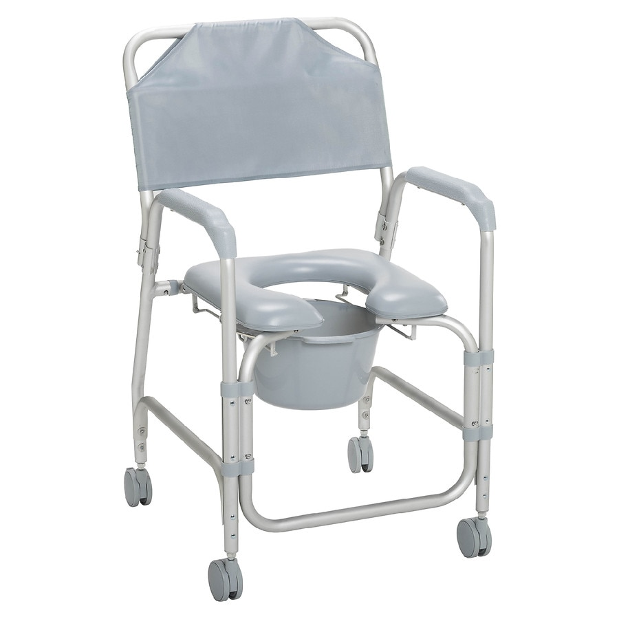 Drive Medical Lightweight Portable Shower Chair Commode with Casters ...