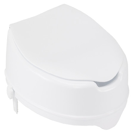 Drive Medical Raised Toilet Seat with Lock and Lid 4 Inch