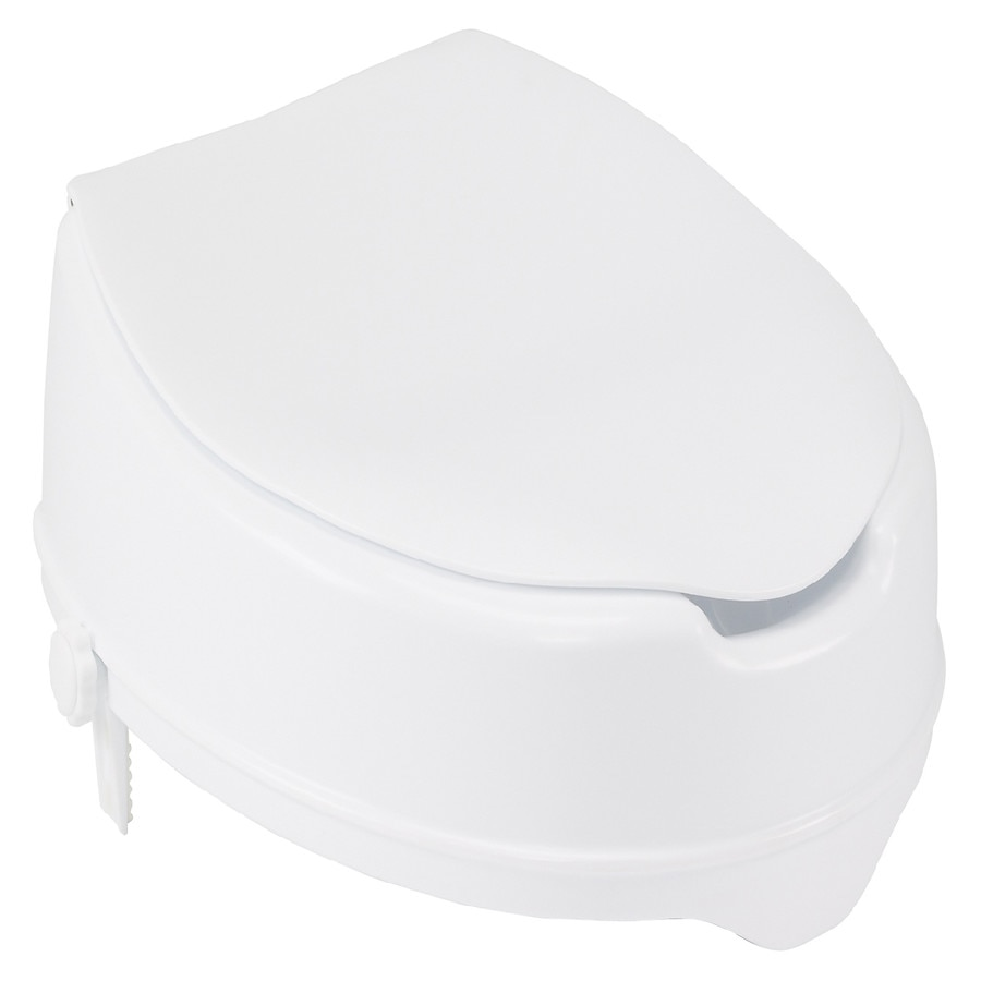 Admirable Drive Medical Raised Toilet Seat With Lock And Lid 4 Inch Uwap Interior Chair Design Uwaporg