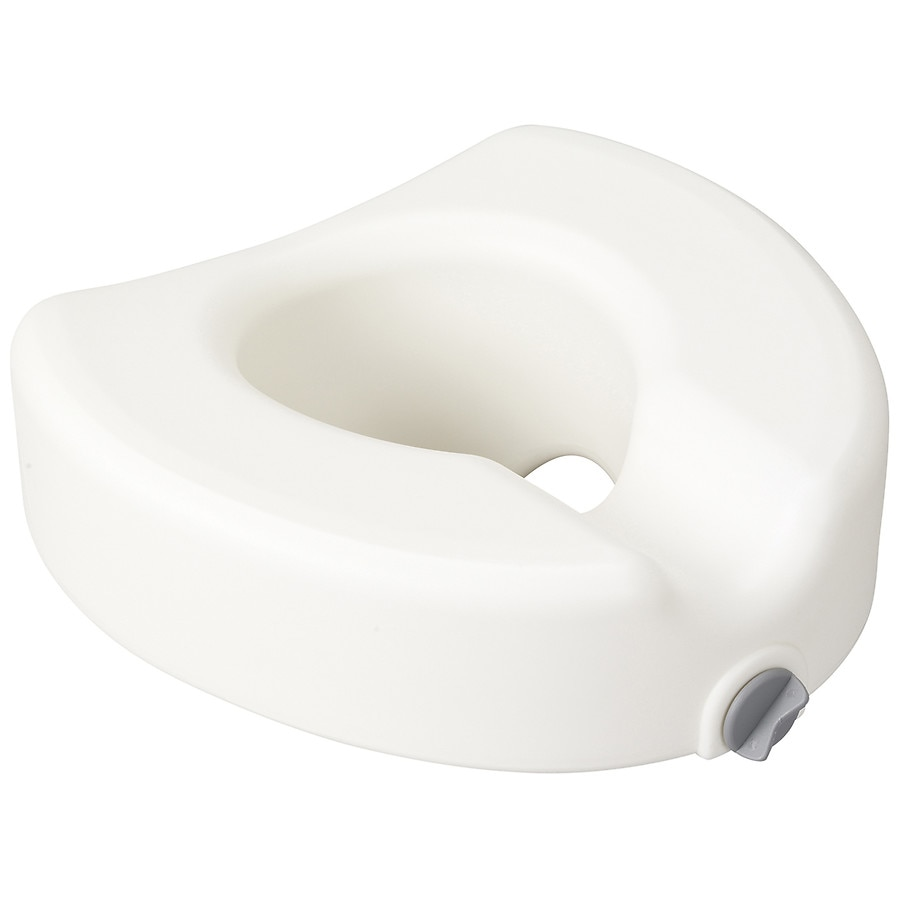 Remarkable Drive Medical Premium Plastic Regular Elongated Raised Toilet Seat With Lock Short Links Chair Design For Home Short Linksinfo