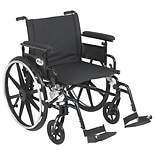 Drive Medical Viper Plus GT Wheelchair w Flip Back Removable Adjustable Full Arm and Foot Rest 22 Inch Black