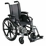 Drive Medical Viper Wheelchair with Flip Back Removable Desk Arms and Swing Away Footrest 12 Inch