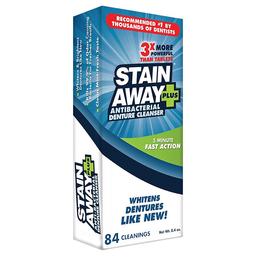 StainAway Plus Powered Professional Strength Denture Cleanser ...