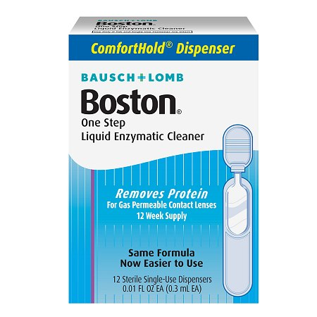Boston One Step Liquid Enzymatic Cleaner 12 dispensers - 0.01 oz. x 12 pack