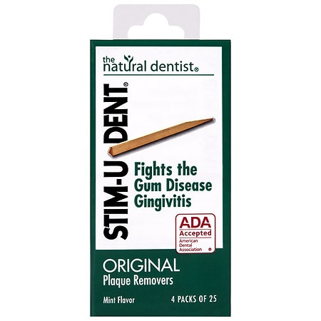 STIM-U-DENT Plaque Removers Mint - 25 ea x 4 pack