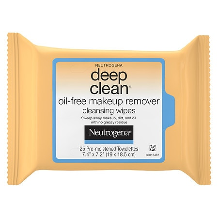 Neutrogena Deep Clean Oil-Free Makeup Remover Face Wipes - 25 ea