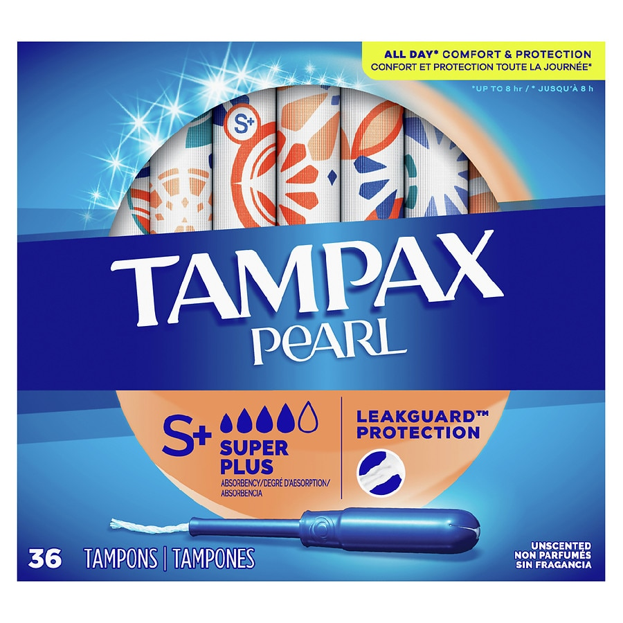 tampax pearl tampons unscented super plus walgreens. Black Bedroom Furniture Sets. Home Design Ideas