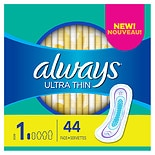 Always Ultra Pads, Regular without Wings Unscented