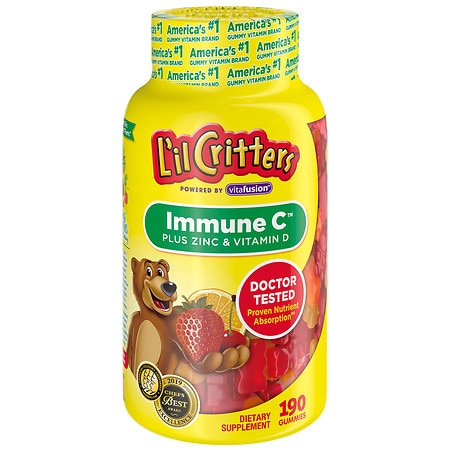 L'il Critters Immune C Plus Zinc and Echinacea, Gummy Bears Assorted Fruit