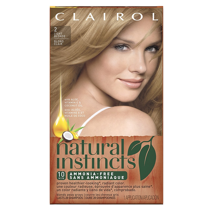 Clairol Natural Instincts Semi-Permanent Hair Color,2 Light Blonde ...