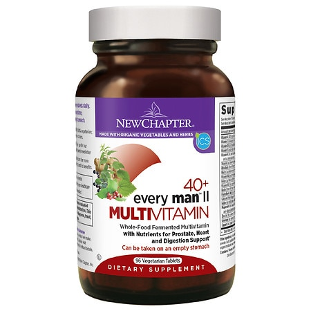 New Chapter 40+ Every Man II Multi Vitamin, Tablets
