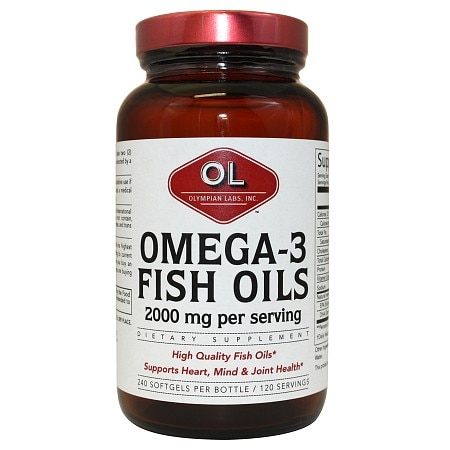 Olympian Labs Omega-3 Fish Oils 1000mg