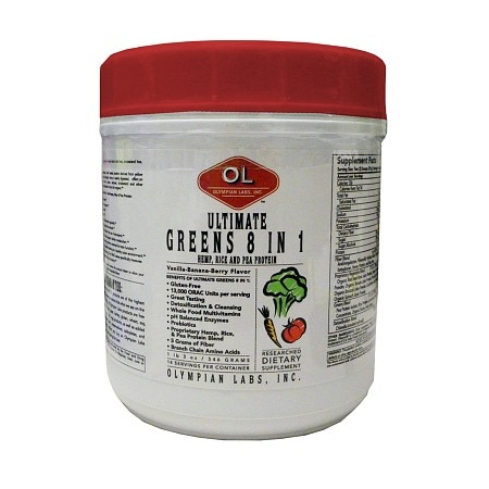 Olympian Labs Ultimate Greens Protein 8 in 1 w/ Hemp Protein