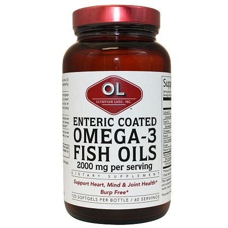 Olympian labs enteric coated omega 3 fish oils walgreens for Enteric coated fish oil