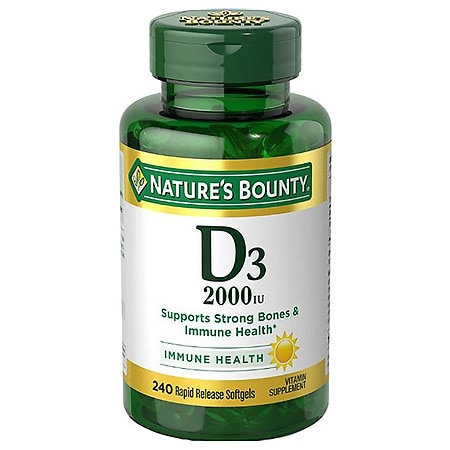 Nature's Bounty Vitamin D3-2000 IU, Softgels - 240 ea