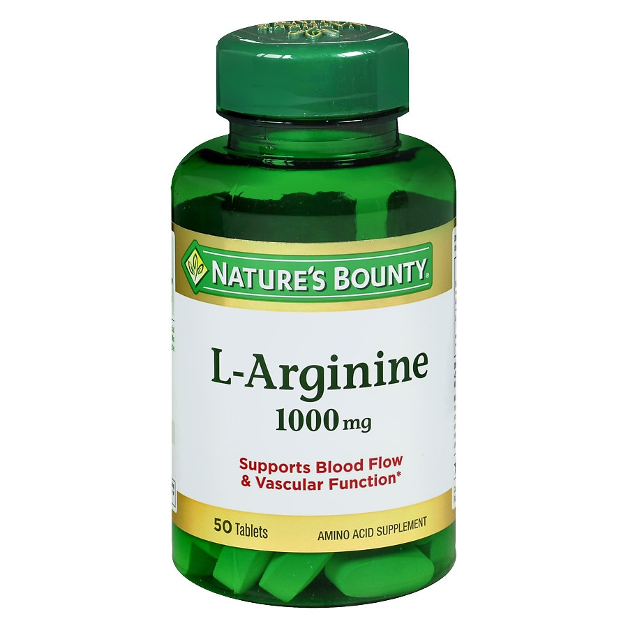 Nature's Bounty L-Arginine 1000 mg Amino Acid Supplement ...