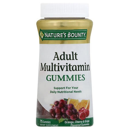 Nature's Bounty Your Life Multi Adult Gummies Multivitamin Supplement Orange, Cherry & Grape